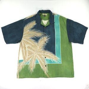 Tommy Bahama Mens XL Shirt Silk Aloha Hawaiian